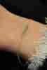 14 Ayar Altın Aqua Marin Taşlı Bileklik - Thumbnail