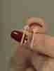 14 Ayar Altın Mini Taşlı Denizci Küpesi - Thumbnail