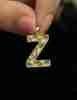 14 Ayar Altın 3 Boyutlu Shine Z Harf Kolye Ucu