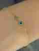 14 Ayar Altın Mini Göz Detaylı Yıldızlı Bileklik - Thumbnail