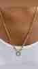 14 Ayar Altın Pullu Zincir Kolye