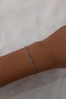 Fiyonk - 14 Ayar Altın Blue Topaz Su Yolu Bileklik
