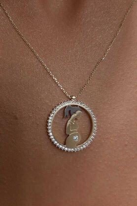 14 Ayar Altın Hamile Anne Kolye - Thumbnail