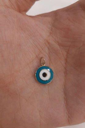Fiyonk - 14 Ayar Altın Mavi Göz Kolye Ucu