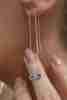 Fiyonk - 14 Ayar Altın Nazar Boncuklu Göz Sallantılı Küpe